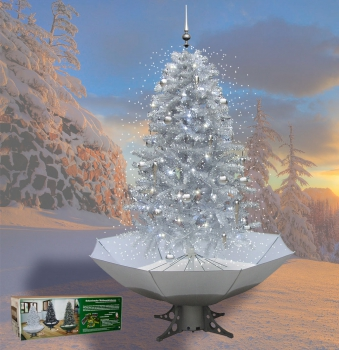 Self-Snowing Christmas Tree 200  cm Silver