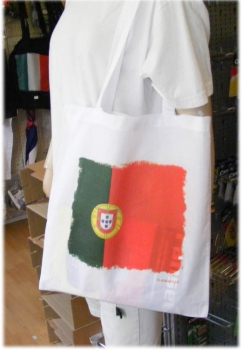 Portugal - Flagbag Tasche mit Flagge Weiss