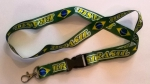 Brazil Brasil Lanyard, key chain Green with hook for your ID card, mobile and what ever you want from profimaterial