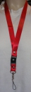 Star lanyard Red, key chain with hook for your ID card, mobile and what ever you want from profimaterial