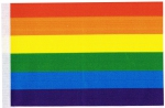 Table Flags Rainbow ca. 15 x 22,5 cm by profimaterial