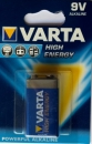 Varta HIGH ENERGY 6LF22 6LR61 9V Block Alkali-Mangan Batterie